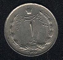 Iran, 1 Rial 1353 (=1974) - Iran