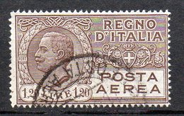 1926  Regno - Aerea N. 5 Timbrato Used 1,2 Lire Bruno - 1900-44 Victor Emmanuel III