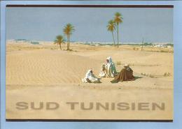 Sud Tunisien  2 Scans 3 Bédouins Assis Dans Le Désert - Tunisie