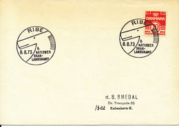 Denmark Cover With CHESS Postmark Ribe 8-8-1973 - Chess