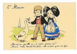 CPA Illustrateur L'ALSACE L'OIE A PEUR POUR SON FOIE - 1900-1949