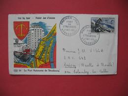 "FDC   1956  "" Le Port Autonome  De Strasbourg ""   N° 1080 - FDC"