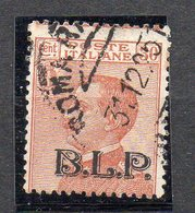 1923 - Regno - Buste Lettere Postali B.L.P. Cent. 30 N 17 Timbrato Used - 1900-44 Victor Emmanuel III