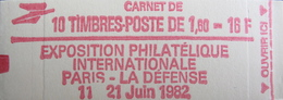 LOT R1703/604 - CARNET (fermé) NEUF** FILEXFRANCE 82 - Conf N°7 Gomme Brillante Pho B - LIBERTE DE GANDON - N°C435-5 - Markenheftchen