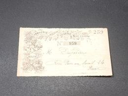 VIEUX PAPIER - Carte Quittance De La Société Horticole, Viticole Et Botanique De Seine Et Marne - L 19577 - Collections