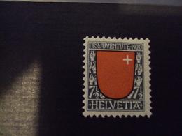 """1920-timbre N° 176-""""armoiries, Schwyz """" Neuf, Charnière   Cote 4 Net  1.25 - Schweiz"""