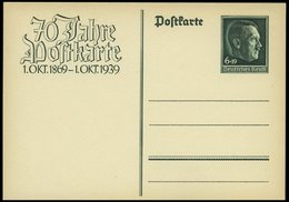 GANZSACHEN P II BRIEF, 1939, Nicht Ausgegeben: 6 Pf. 70 Jahre Postkarte, Ungebraucht, Pracht, Mi. 35.- - Deutschland
