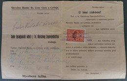 MONTENEGRO-AUSTRIA, REVENUE STAMP 50 Para NATIONAL BANK Of MONTENEGRO 1917 RARE!!!!!!!! - Montenegro