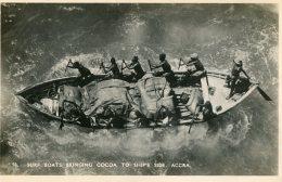 GHana - Gold Coast - Surf Boats Bringing Cocoa To Ships Side - RPPC - Ghana - Gold Coast