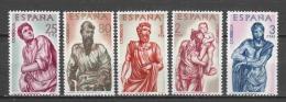 Spain 1962 Mi 1327-1331 MNH - 1961-70 Unused Stamps