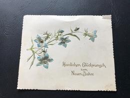 Herzlichen Gluckwunsch Zum Neuen Jahre  (fleurs Relief) - Neujahr
