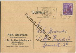 Brief Berlin - 6 Pf. Rotaufdruck - Stempel 'Kauft Vom Blockierten Berlin' - Werbekarte - Ortskarte 1949 - Berlin (West)