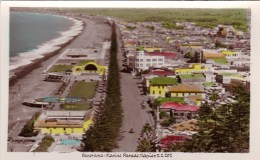 Panorama, Marine Parade, Napier, New Zealand Vintage PC/Real Photo Unused - New Zealand