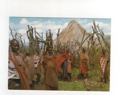 "éditions East Africa Carte Postale N° 1369  "" Masai Women Near Theit Huts "" , Neuve - Kenya"