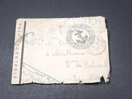FRANCE - Enveloppe En FM Pour La France En 1945 Avec Contrôle Postal , Cachet Ancre De Marine - L 19595 - Postmark Collection (Covers)