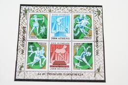 Tajikistan 20.05.2003 Mi # Bl 34A Athens 2004 & Beijing 2008 Summer Olympics, MNH OG - Verano 2004: Atenas