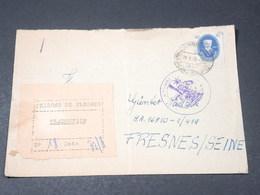 FRANCE/ALLEMAGNE - Enveloppe D 'Allemagne De L 'est Pour La Prison De Fresnes En 1950 , étiquette De Traducteur- L 19596 - Marcophilie (Lettres)