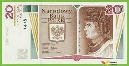 Voyo POLOGNE POLAND 20 Zlotych 2015 P188 BNP819a JD UNC Commemorative + Folder JAN DLUGOSZ - Pologne