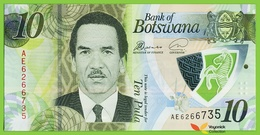 Voyo BOTSWANA 10 Pula 2018 PNEW B129a AE UNC Polimer - Botswana