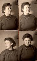 4 Photos Originales - Portrait De Femme Sous 4 Angles Vers 1950/60 - Pin-Ups