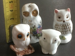 LOT 4 CHOUETTES En Porcelaine Blanche. - Other Collections
