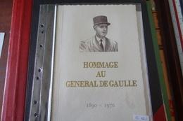 LIVRET SOUVENIR Général DE GAULLE 9/11/1971 - De Gaulle (Général)