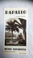 Rapallo Hotel Elisabetta Rivière Italienne - Dépliants Touristiques