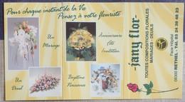 Petit Calendrier De Poche 2000  Fleuriste Jany Flor Rethel - Small : 1991-00