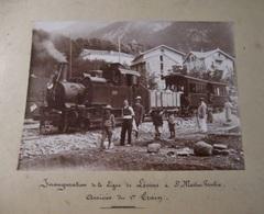 SUISSE 1890 INAUGURATION LIGNE DE LEVINS A ST MARTIN VESUBIE ARRIVEE DU 1ER TRAIN/TRES RARE - Photos