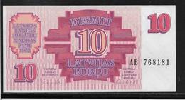 Lettonie - 10 Rubli - Pick N°38 - NEUF - Latvia