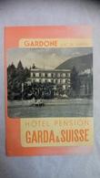 Gardone Lac De Garda Hôtel Pension Garda & Suisse - Dépliants Touristiques