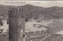 ESPAGNE----RARE---TOSSA DE MAR---aspecte Des De Les Muralles---( Carte-photo TORT )--voir 2 Scans - Gerona