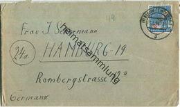 Brief Berlin - 20 Pf. Rotaufdruck (überfrankiert) - Fernbrief Nach Hamburg - Berlin (West)