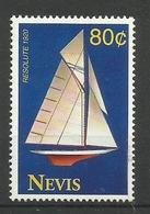 NEVIS  1993  RESOLUTE  1920 YATCH MNH - St.Kitts Und Nevis ( 1983-...)