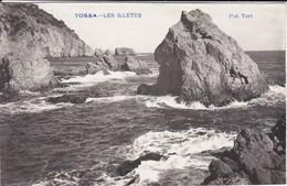ESPAGNE----RARE---TOSSA DE MAR---les Illetes--( Carte-photo TORT )--voir 2 Scans - Gerona