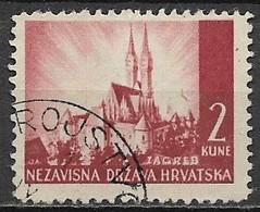 Timbres - Croatie - 1941 - 2 K - N° 036  - - Croatie