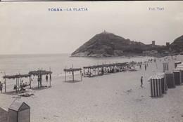 ESPAGNE----RARE---TOSSA DE MAR---la Platja--( Carte-photo TORT )--voir 2 Scans - Gerona