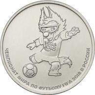 RUSSIA RUSSLAND RUSSIE 25 ROUBLE RUBLE FIFA SOCCER WORLD CUP MASCOT WOLF ZABIVAKA 2018 UNC - Russia