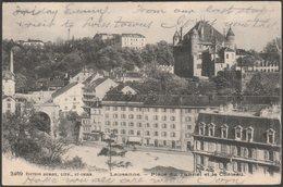 Place Du Tunnel Et Le Château, Lausanne, Vaud, 1903 - Burgy U/B CPA - VD Vaud