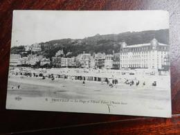 17551) 14 TROUVILLE LA PLAGE HOTEL PALACE A MAREE BASSE VIAGGIATA PICCOLO FORO IN BASSO - Trouville