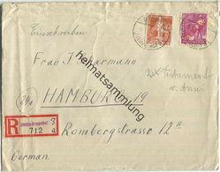 Brief Berlin - R-Brief 64 Pf. - Fernbrief Nach Hamburg 1949 - Berlin (West)