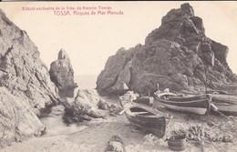 ESPAGNE---TOSSA --roques De Mar Menuda--( Peu Courante Bâteaux + Lanternes )--voir 2 Scans - Gerona