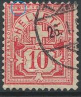 1888 - 10 Rp. Wertziffer Gestempelt - ABART Farbfleck Oben Links Im Rahmen - Abarten