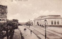 CPA VITTEL - LA GARE - Vittel Contrexeville