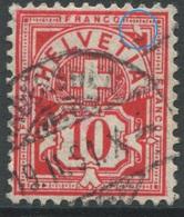 1889 - 10 Rp. Wertziffer Gestempelt - ABART Farbloser Defekt Rechts Oben - Abarten