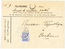 1913 Telegramm Umschlag Aus Pera Nach Berlin - 1837-1914 Smyrna