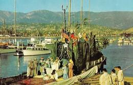 CARTE POSTALE ORIGINALE DE 9CM/14CM : CHRISTMAS PAGEANT  SANTA BARBARA HARBOR CALIFORNIA USA - Santa Barbara
