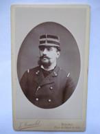 Photographie CDV- Photo Originale D'un Officier De Marine (?) - Photo  J. Arnold, Bourg (01) - TBE - War, Military