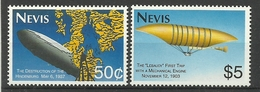 NEVIS  1993  ZEPPELINS  MNH - St.Kitts Und Nevis ( 1983-...)