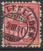 1895 - 10 Rp. Wertziffer Gestempelt - ABART Gebrochene Randlinie Unten Rechts - Variétés